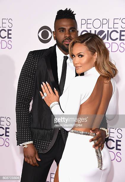 Singer Jason Derulo and actress Daphne Joy attend the People's Choice Awards 2016 at Microsoft Theater on January 6 2016 in Los Angeles California