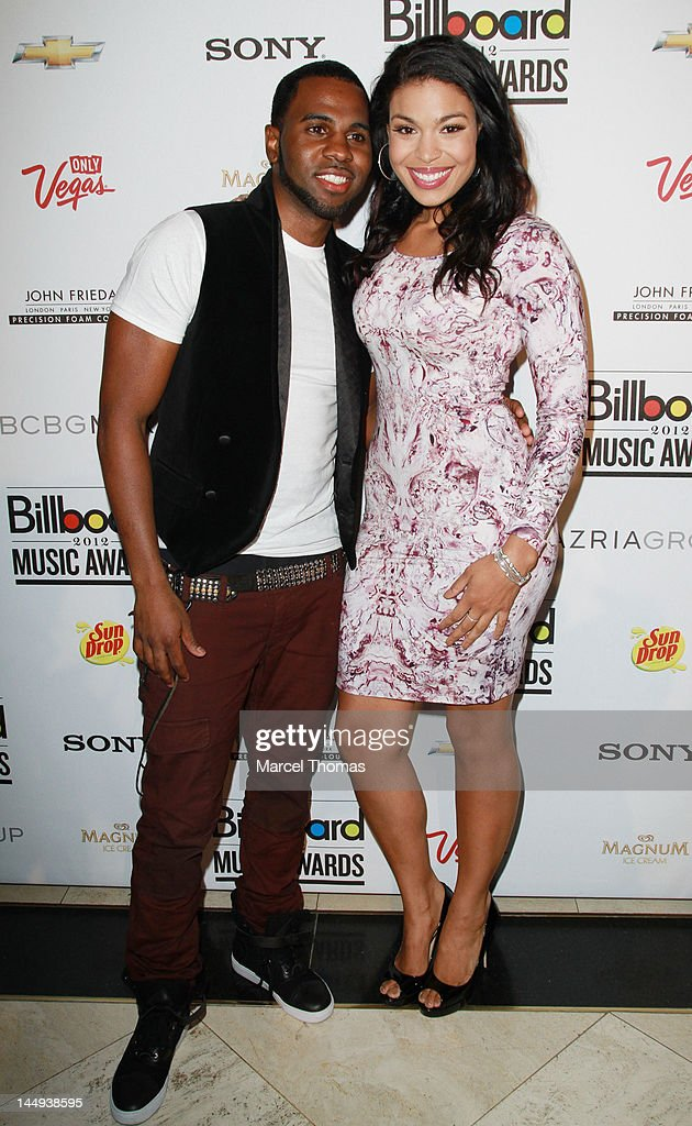 Singer <a gi-track='captionPersonalityLinkClicked' href=/galleries/search?phrase=Jason+Derulo&family=editorial&specificpeople=5745869 ng-click='$event.stopPropagation()'>Jason Derulo</a> and <a gi-track='captionPersonalityLinkClicked' href=/galleries/search?phrase=Jordin+Sparks&family=editorial&specificpeople=4165535 ng-click='$event.stopPropagation()'>Jordin Sparks</a> attend the 2012 Billboard Music Awards Oficial After-party at 1 Oak on May 20, 2012 in Las Vegas, Nevada.