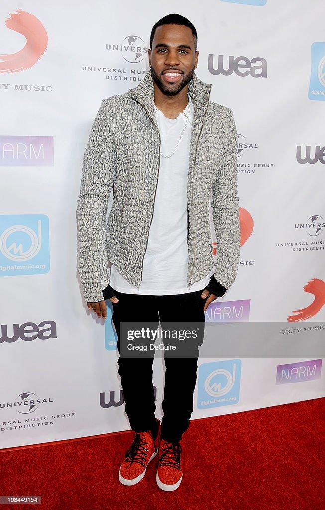 Singer Jason Derulo arrives at the NARM Music Biz Awards dinner party at the Hyatt Regency Century Plaza on May 9, 2013 in Century City, California.