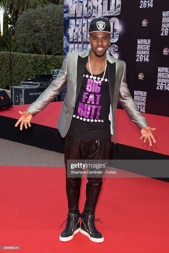 Singer Jason Derulo arrives at the World Music Awards at Sporting Monte-Carlo on May 27, 2014 in Monte-Carlo, Monaco.