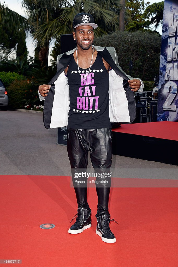 Singer <a gi-track='captionPersonalityLinkClicked' href=/galleries/search?phrase=Jason+Derulo&family=editorial&specificpeople=5745869 ng-click='$event.stopPropagation()'>Jason Derulo</a> arrives the World Music Awards at Sporting Monte-Carlo on May 27, 2014 in Monte-Carlo, Monaco.