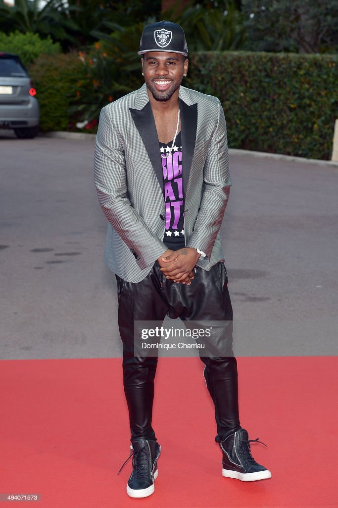 Singer <a gi-track='captionPersonalityLinkClicked' href=/galleries/search?phrase=Jason+Derulo&family=editorial&specificpeople=5745869 ng-click='$event.stopPropagation()'>Jason Derulo</a> arrives World Music Awards 2014 at Sporting Monte-Carlo on May 27, 2014 in Monte-Carlo, Monaco.