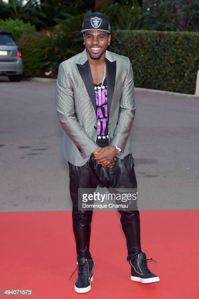 Singer Jason Derulo arrives World Music Awards 2014 at Sporting MonteCarlo on May 27 2014 in MonteCarlo Monaco