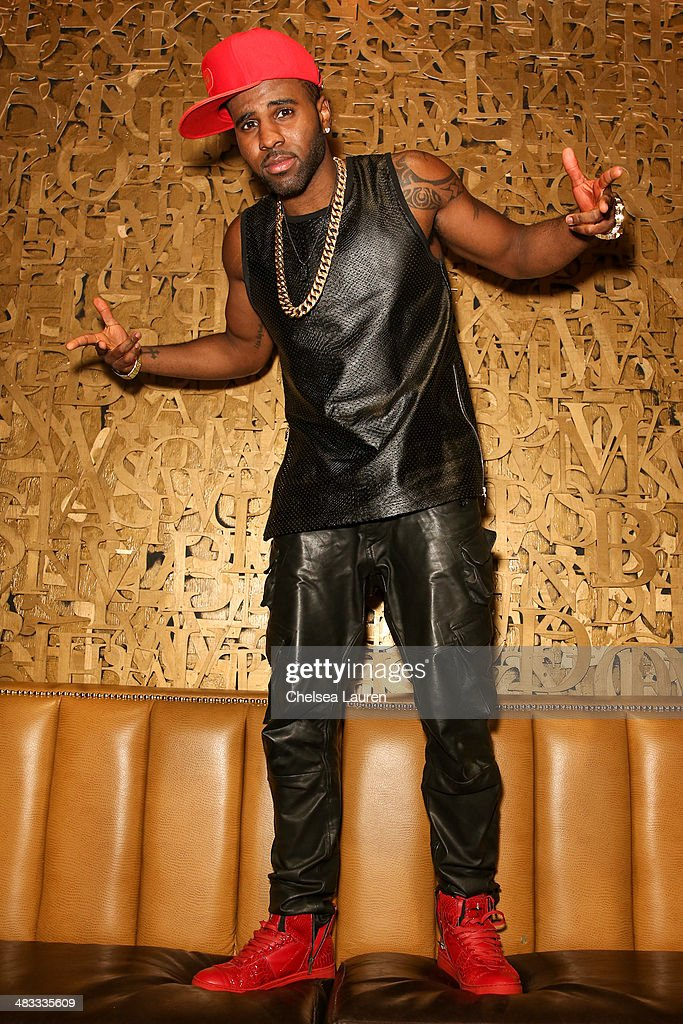 Singer <a gi-track='captionPersonalityLinkClicked' href=/galleries/search?phrase=Jason+Derulo&family=editorial&specificpeople=5745869 ng-click='$event.stopPropagation()'>Jason Derulo</a> attends the listening party for his new album 'Talk Dirty' at 1OAK on April 7, 2014 in West Hollywood, California.