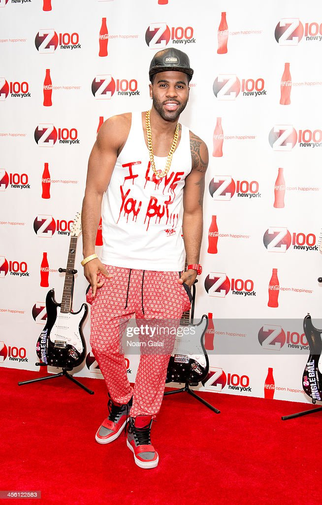 Singer <a gi-track='captionPersonalityLinkClicked' href=/galleries/search?phrase=Jason+Derulo&family=editorial&specificpeople=5745869 ng-click='$event.stopPropagation()'>Jason Derulo</a> attends the Z100 & Coca-Cola All Access Lounge at Hammerstein Ballroom on December 13, 2013 in New York City.