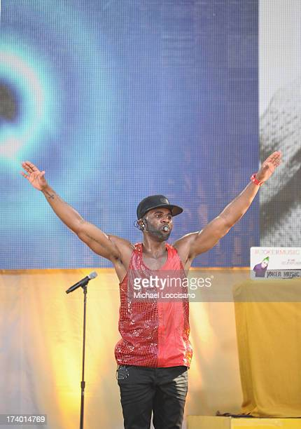 Singer Jason Derulo performs on ABC's 'Good Morning America' at Rumsey Playfield on July 19 2013 in New York City