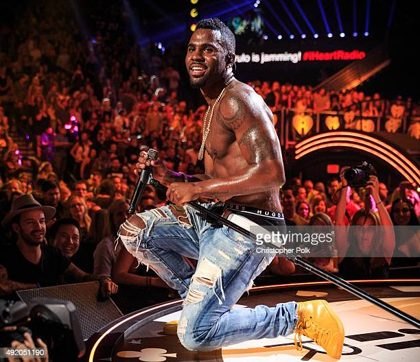 Singer Jason Derulo performs onstage at the 2015 iHeartRadio Music Festival at MGM Grand Garden Arena on September 18 2015 in Las Vegas Nevada