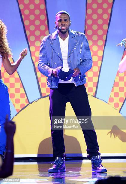 Singer Jason Derulo performs onstage during FOX's 2014 Teen Choice Awards at The Shrine Auditorium on August 10 2014 in Los Angeles California