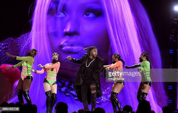 Singer Jason Derulo performs onstage during the 2017 Billboard Music Awards at TMobile Arena on May 21 2017 in Las Vegas Nevada