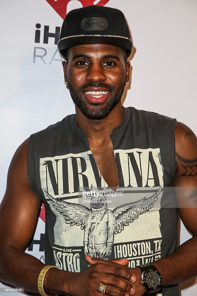 Singer <a gi-track='captionPersonalityLinkClicked' href=/galleries/search?phrase=Jason+Derulo&family=editorial&specificpeople=5745869 ng-click='$event.stopPropagation()'>Jason Derulo</a> poses backstage at The Village during the iHeartRadio music festival on September 21, 2013 in Las Vegas, Nevada.