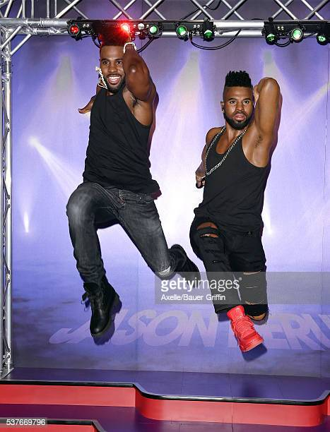 Singer Jason Derulo unveils his wax figure at Madame Tussauds on May 19 2016 in Hollywood California