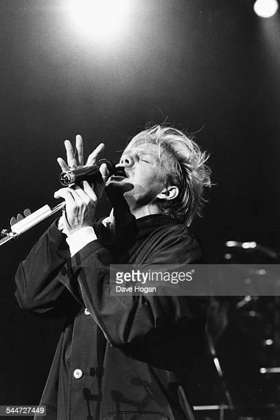Singer Jason Donovan performing on stage circa 1988
