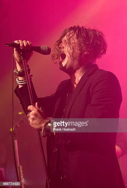 Singer Jay Buchanan of Rival Sons performs live during a concert at the Heimathafen Neukoelln on April 14 2015 in Berlin Germany