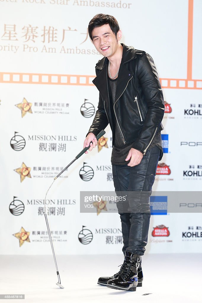 Jay Chou Attends Activity Of 2014 Mission Hills World Celebrity Pro-Am In Shanghai