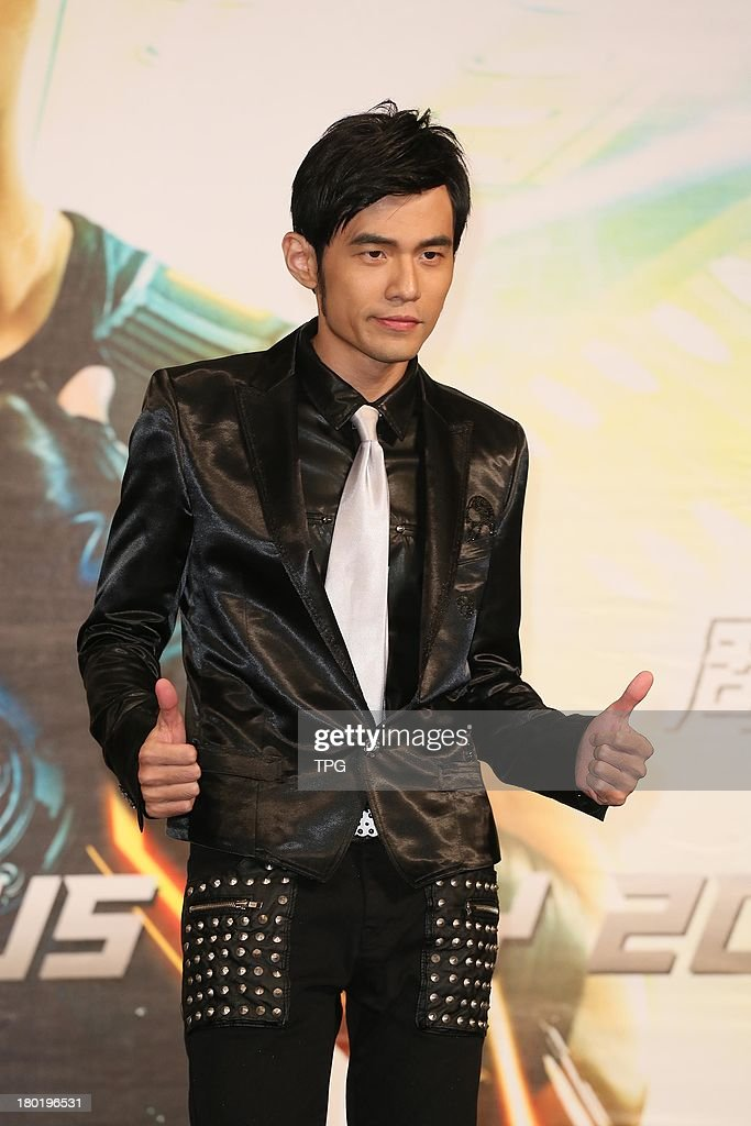 Singer Jay Chou attends celebration press conference after 3 concerts on Sunday,September 8,2013 in Taipei,China.