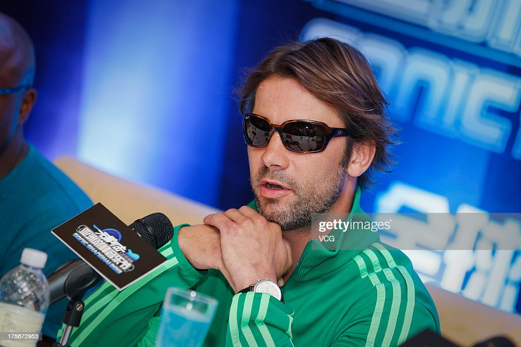 Singer <a gi-track='captionPersonalityLinkClicked' href=/galleries/search?phrase=Jay+Kay&family=editorial&specificpeople=202140 ng-click='$event.stopPropagation()'>Jay Kay</a> of Jamiroquai attends a press conference prior to their concert, at Nikko Hotel on August 6, 2013 in Shanghai, China.
