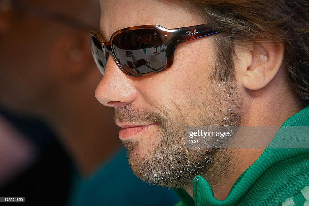 Singer Jay Kay of Jamiroquai attends a press conference prior to their concert at Nikko Hotel on August 6, 2013 in Shanghai, China.