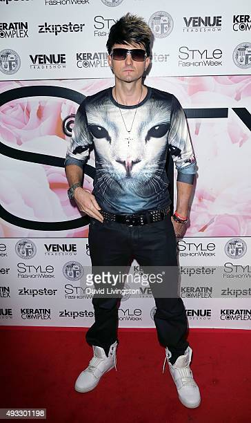 Singer Jaysin Voxx attends Marco Marco's presentation of his Spring/Summer 2016 Collection 4 at The Reef on October 18 2015 in Los Angeles California