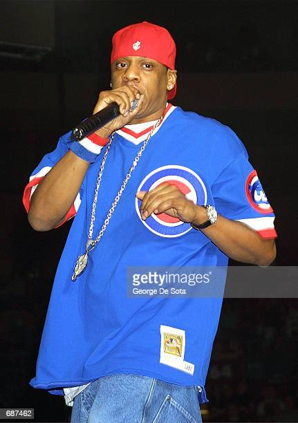 Singer JayZ performs at the Z100 Jingle Ball December 13 2001 at Madison Square Garden New york City