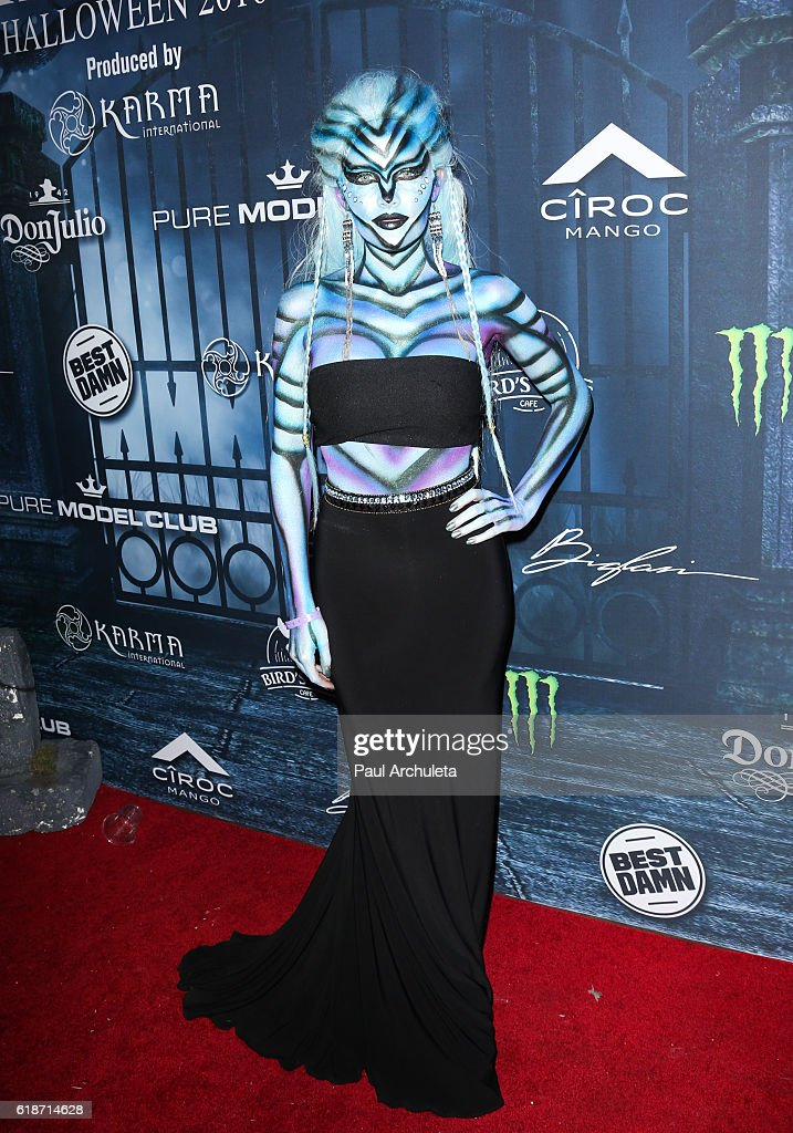 Singer Jean Watts attends Maxim Magazine's annual Halloween party on October 22, 2016 in Los Angeles, California.