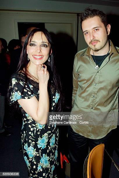 Singer Jeanne Mas and a friend attend the Bordeaux wine presentation at Pavillon Gabriel in Paris