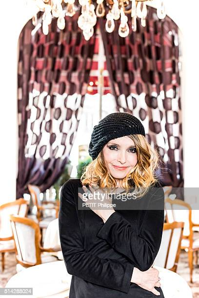 Singer Jeanne Mas poses for Paris Match on february 23 2016 in Paris France