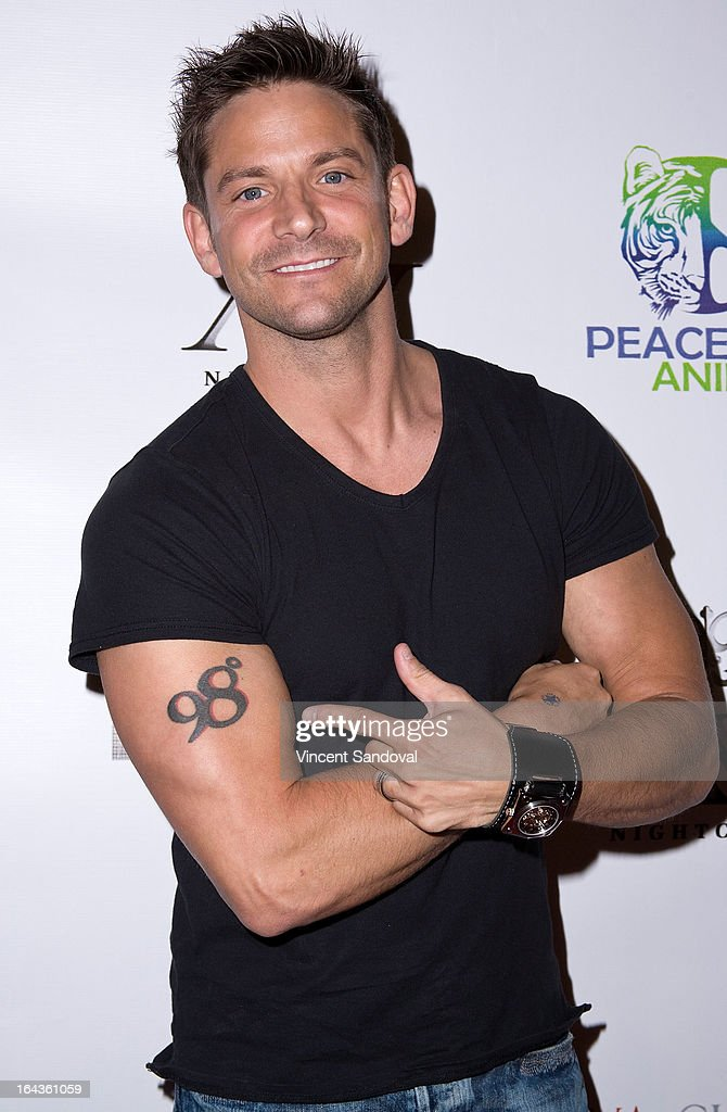 Singer Jeff Timmons attends the Viva Glam Magazine April launch party in support of Peace 4 Animals at AV on March 22, 2013 in Hollywood, California.