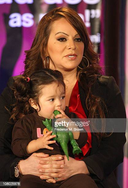 Singer Jenni Rivera and granddaughter Jayla speak during the 'I Love Jenni' lunch session during the NBC Universal portion of the 2011 Winter TCA...