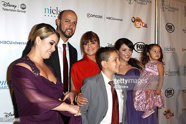 Singer Jenni Rivera and her family arrive at the 27th Annual Imagen Awards at The Beverly Hilton Hotel on August 10 2012 in Beverly Hills California