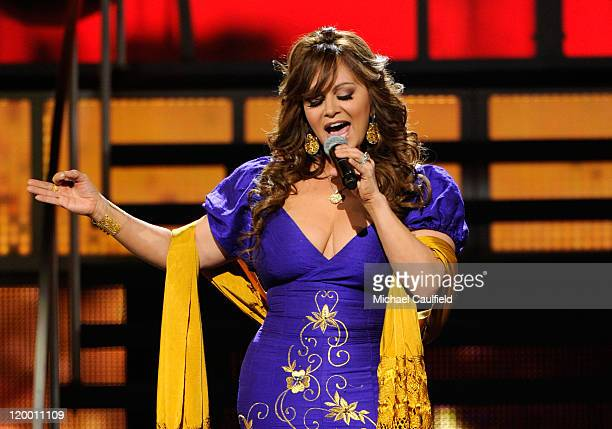 Singer Jenni Rivera performs onstage at the 11th Annual Latin GRAMMY Awards held at the Mandalay Bay Events Center on November 11 2010 in Las Vegas...