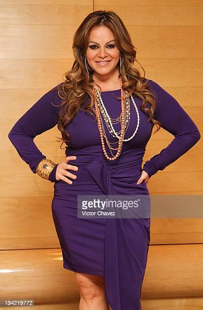 Singer Jenni Rivera promotes her new album 'Joyas Prestadas Pop' at the Hotel Presidente Intercontinental on November 28 2011 in Mexico City Mexico