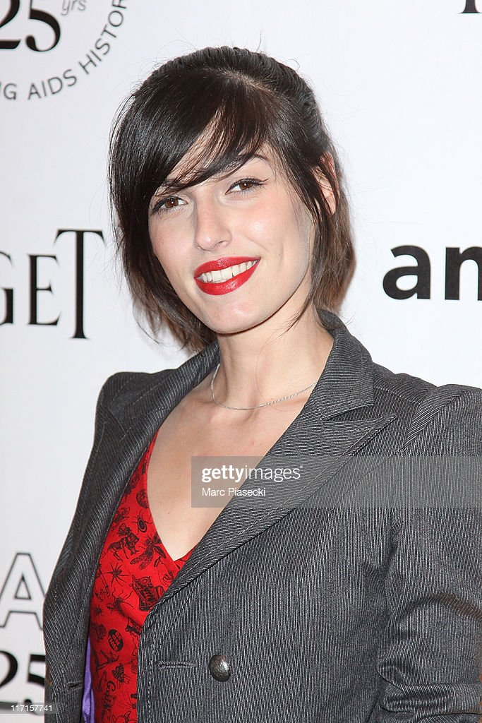 Singer Jennifer Ayache attends the amfAR Inspiration Gala photocall at Pavillon Gabriel on June 23, 2011 in Paris, France.