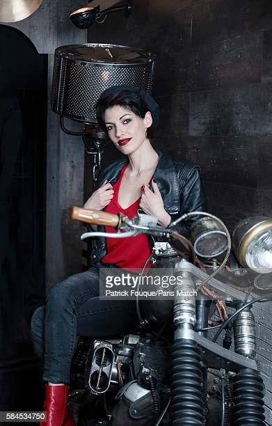 Singer Jennifer Ayache of pop/rock band Superbus is photographed for Paris Match on June 14 2016 in Paris France
