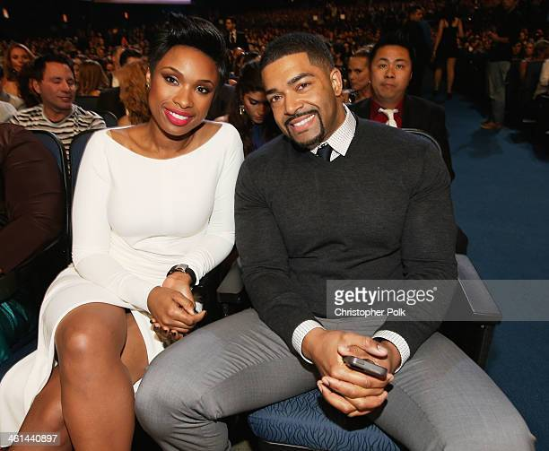Singer Jennifer Hudson and pro wrestler David Otunga attend The 40th Annual People's Choice Awards at Nokia Theatre LA Live on January 8 2014 in Los...