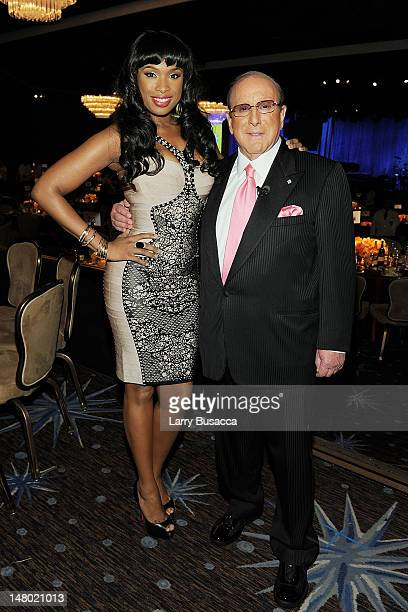 Singer Jennifer Hudson and Producer Clive Davis arrives at the 2011 PreGRAMMY Gala and Salute To Industry Icons Honoring David Geffen at Beverly...