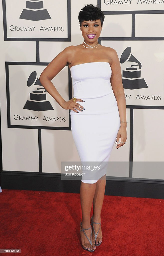 Singer <a gi-track='captionPersonalityLinkClicked' href=/galleries/search?phrase=Jennifer+Hudson&family=editorial&specificpeople=234833 ng-click='$event.stopPropagation()'>Jennifer Hudson</a> arrives at the 57th GRAMMY Awards at Staples Center on February 8, 2015 in Los Angeles, California.
