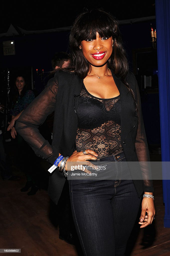 "Singer Jennifer Hudson at the Samsung Galaxy ""Shangri-La"" Party on February 2, 2013 in New Orleans, Louisiana."