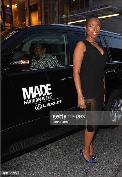 Singer Jennifer Hudson attends Prabal Garung at Lexus Design Disrupted at Skylight at Moynihan Station on September 13 2015 in New York City
