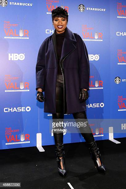 Singer Jennifer Hudson attends 'The Concert For Valor' at The National Mall on November 11 2014 in Washington DC