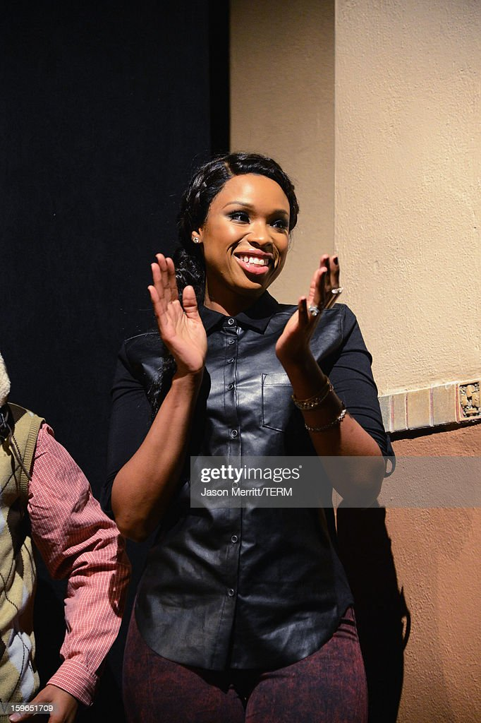 Singer Jennifer Hudson attends the 'The Inevitable Defeat Of Mister And Pete' premiere during the 2013 Sundance Film Festival at Library Center Theater on January 17, 2013 in Park City, Utah.