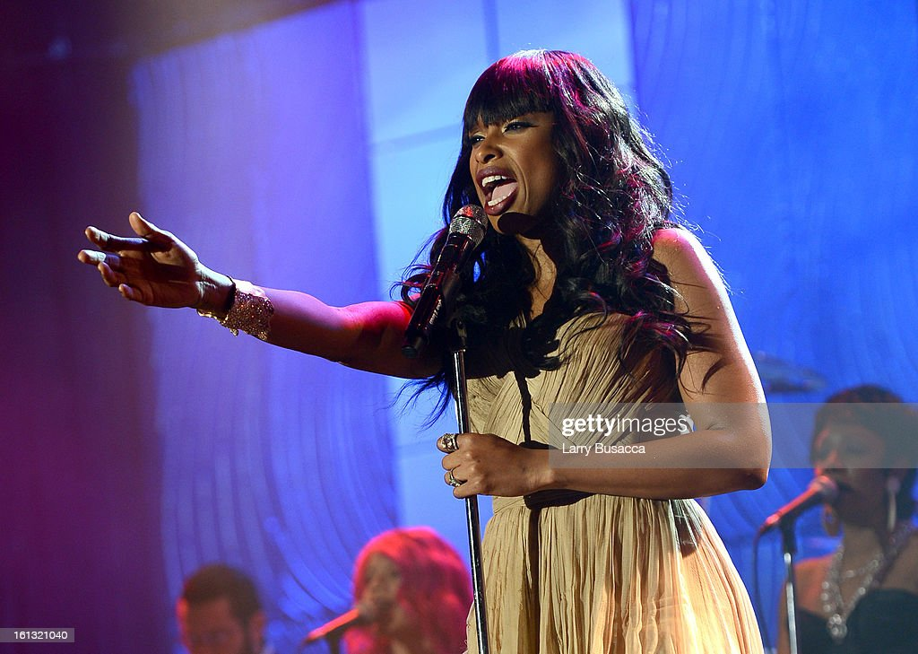 Singer <a gi-track='captionPersonalityLinkClicked' href=/galleries/search?phrase=Jennifer+Hudson&family=editorial&specificpeople=234833 ng-click='$event.stopPropagation()'>Jennifer Hudson</a> onstage at the 55th Annual GRAMMY Awards Pre-GRAMMY Gala and Salute to Industry Icons honoring L.A. Reid held at The Beverly Hilton on February 9, 2013 in Los Angeles, California.