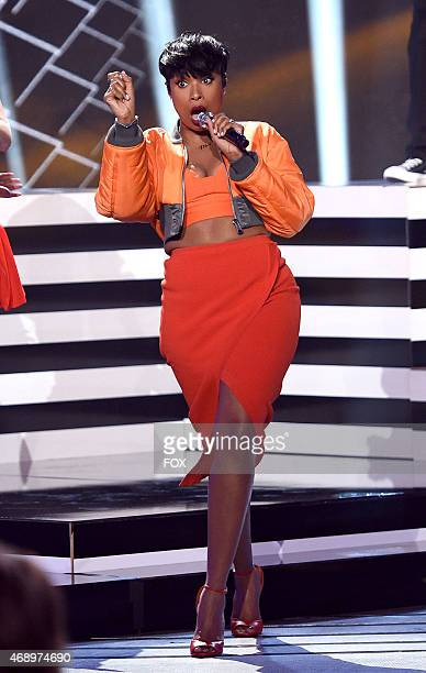 Singer Jennifer Hudson performs onstage at FOX's 'American Idol XIV' Top 7 Revealed on April 8 2015 in Hollywood California