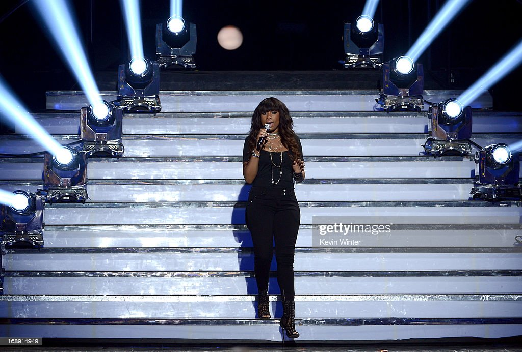 Singer Jennifer Hudson performs onstage during Fox's 'American Idol 2013' Finale Results Show at Nokia Theatre L.A. Live on May 16, 2013 in Los Angeles, California.