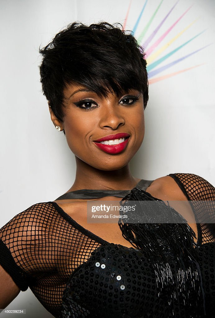Singer <a gi-track='captionPersonalityLinkClicked' href=/galleries/search?phrase=Jennifer+Hudson&family=editorial&specificpeople=234833 ng-click='$event.stopPropagation()'>Jennifer Hudson</a> poses backstage before performing at LA Pride 2014 on June 7, 2014 in West Hollywood, California.