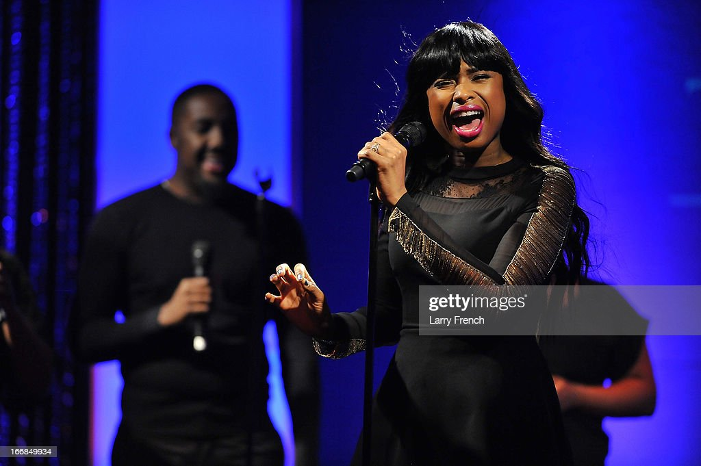 Singer Jennifer Hudson sings at the 2013 Grammys on the Hill Awards at The Hamilton on April 17, 2013 in Washington, DC.