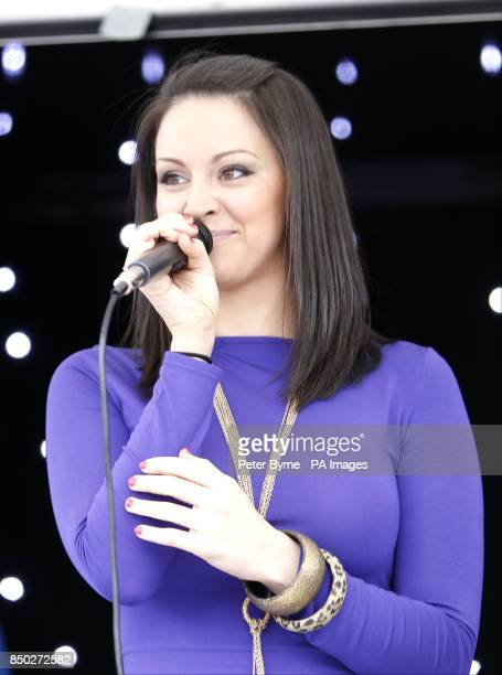 Singer Jennifer Jewel performs on the Everton Roadshow stage