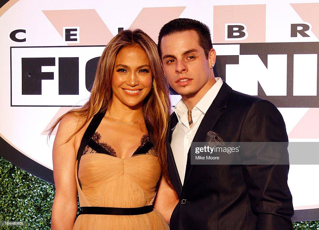 Singer Jennifer Lopez and boyfriend Casper Smart attend Muhammad Ali's Celebrity Fight Night XIX at JW Marriott Desert Ridge Resort Spa on March 23...