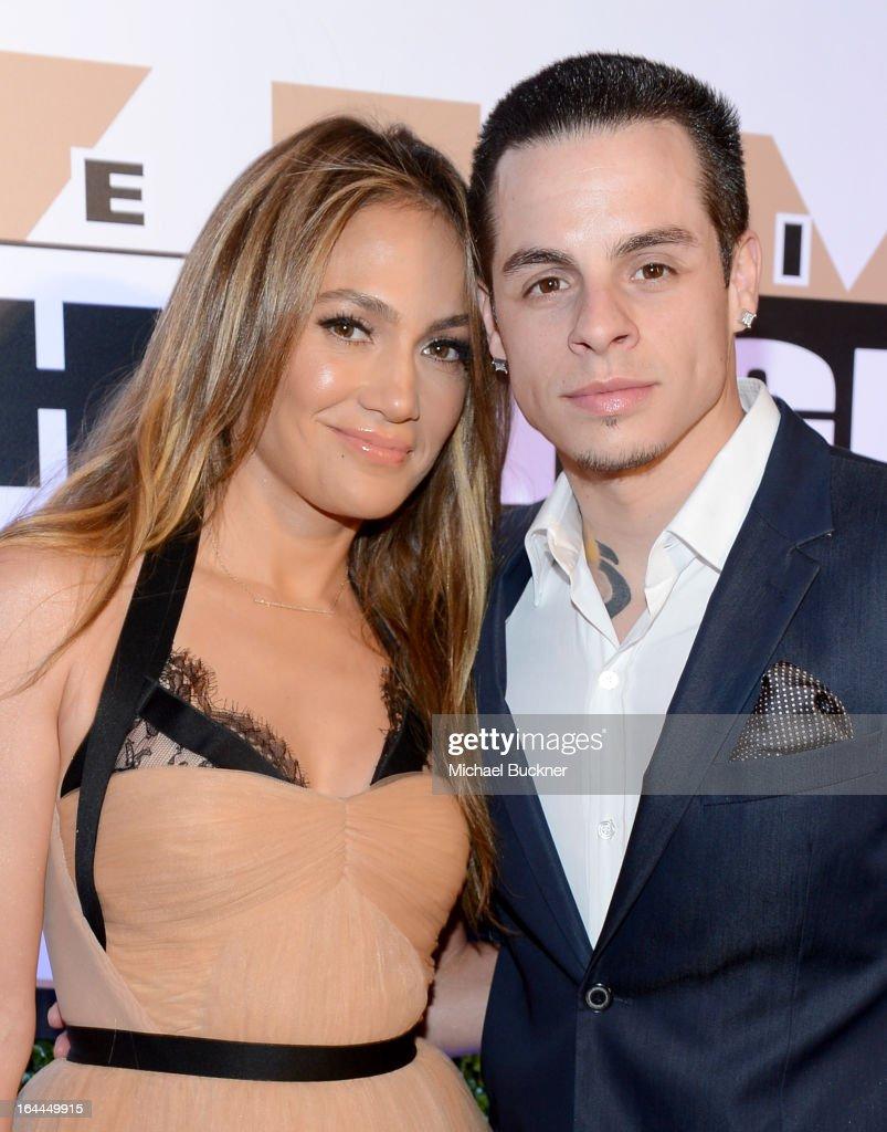 Singer Jennifer Lopez and dancer Casper Smart attend Muhammad Ali's Celebrity Fight Night XIX at JW Marriott Desert Ridge Resort Spa on March 23 2013...
