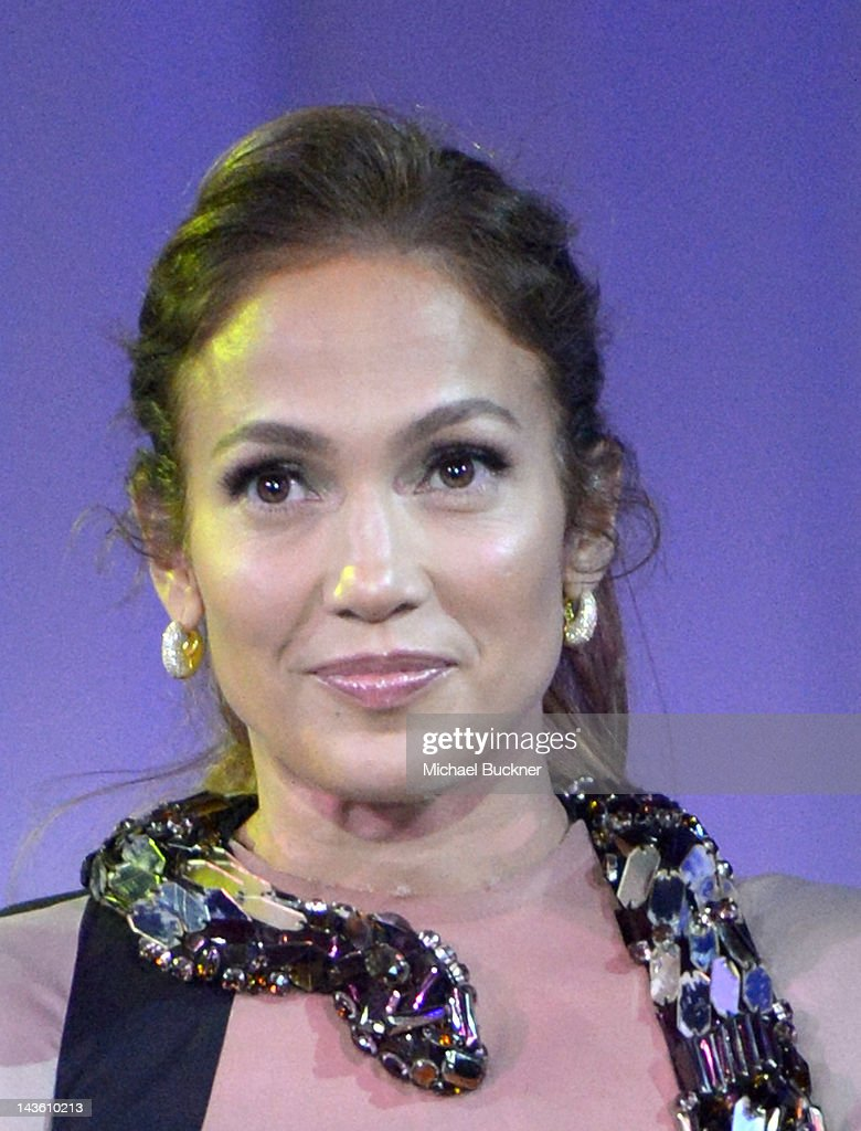 Singer Jennifer Lopez announces her Summer Tour with Enrique Iglesias and Wisin Y Yandel at Boulevard3 on April 30 2012 in Hollywood California