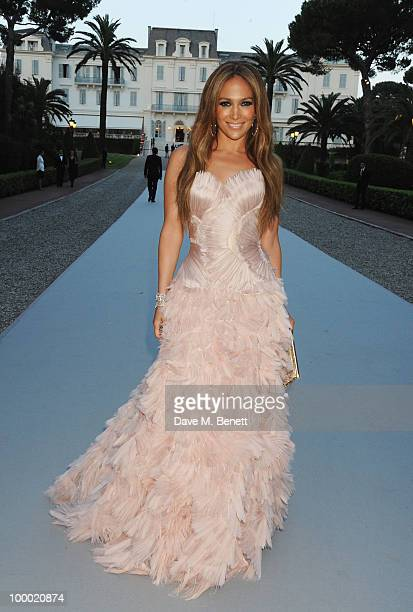 Singer Jennifer Lopez arrives at amfAR's Cinema Against AIDS 2010 benefit gala at the Hotel du Cap on May 20 2010 in Antibes France